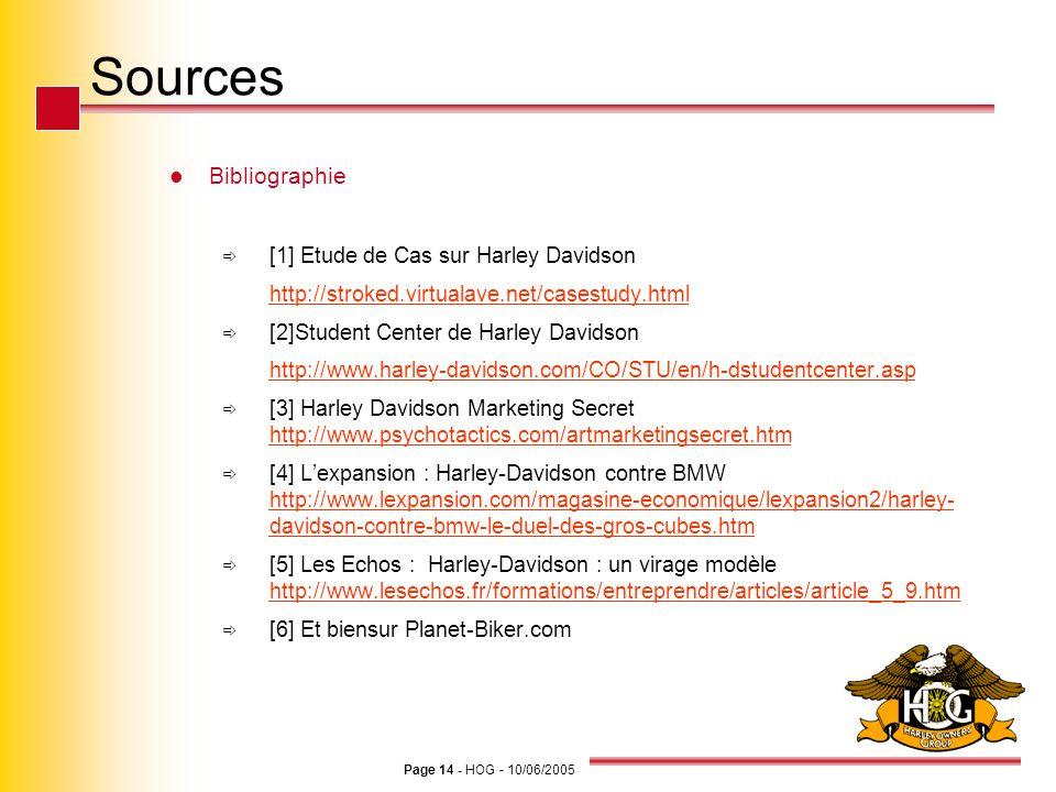 Sources Bibliographie [1] Etude de Cas sur Harley Davidson